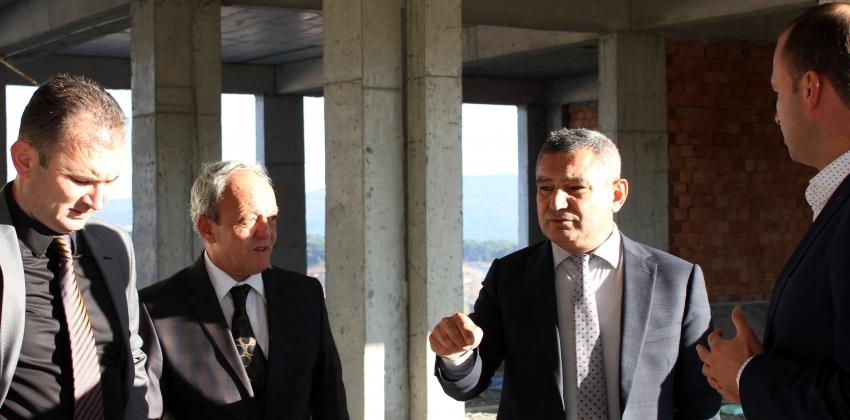 Rektör Prof. Dr. Yücel Acer Ayvacık MYO Yeni Hizmet Binası İnşaat Alanını İnceledi