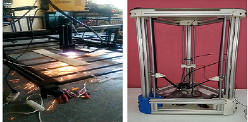 Biga Meslek Yüksekokulu Öğrencileri CNC Plazma ve Delta Tipi 3 Boyutlu Yazıcı Ürettiler.