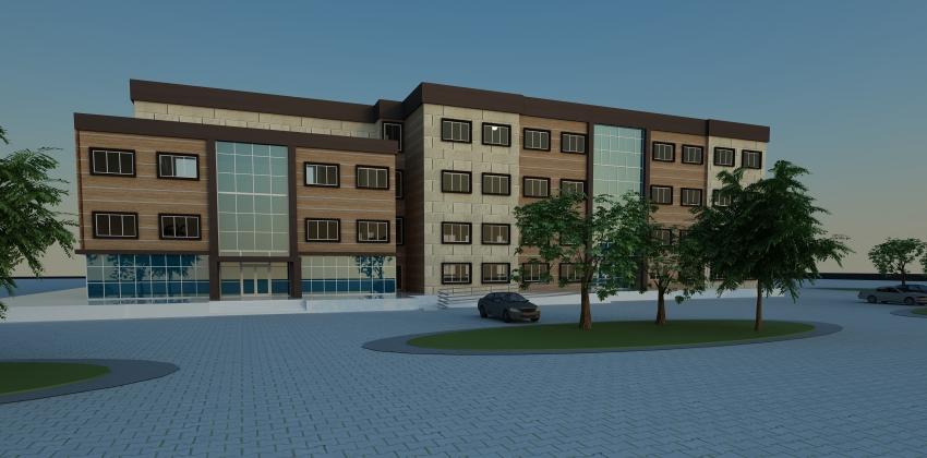 Biga Meslek Yüksekokulu Yeni Hizmet Binası Yapımı Hızla Devam Ediyor.