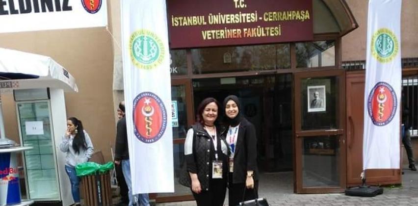 Gıda Teknolojisi Programı 2. sınıf öğrencimiz Uluslararası Veteriner Hekimliği Öğrencileri Bilimsel Araştırma Kongresine Katıldı.