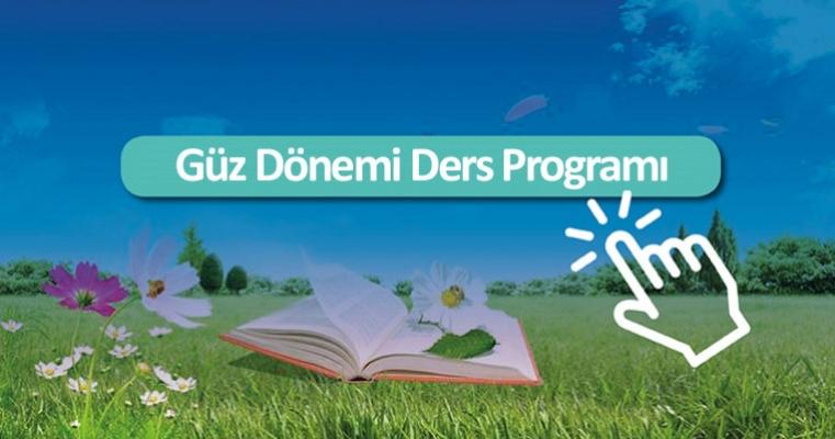 2019-2020 Eğitim Öğretim Yılı Güz Dönemi Ders Programı