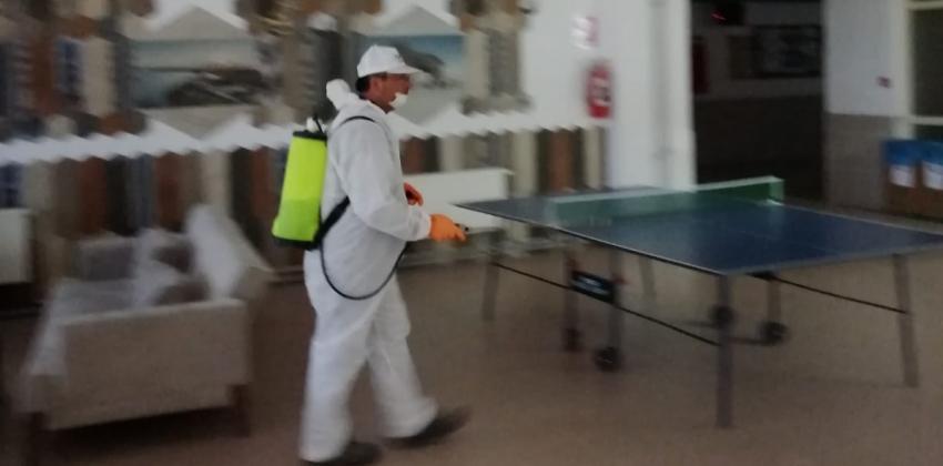 Korona virüs nedeniyle Çan Belediyesi tarafından okulumuz dezenfekte edilmiştir.