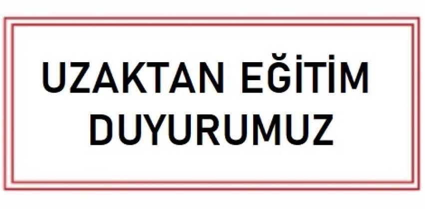 08.09.2020 Tarihli Çanakkale Onsekiz Mart Üniversitesi Senatosu Kararları (UZAKTAN EĞİTİM)