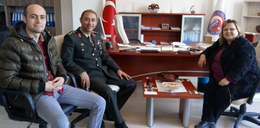 Çan İlçe Jandarma Komutanının Ziyareti
