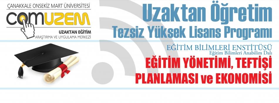 Eğitim Yönetimi Teftişi Planlaması ve Ekonomisi Uzaktan Öğretim Tezsiz Yüksek Lisans Programı