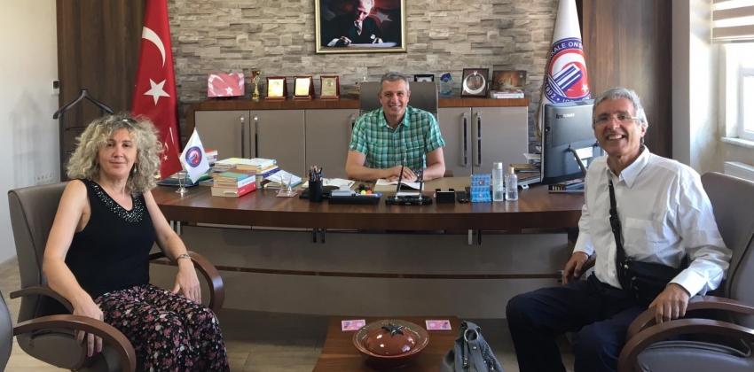 Laquila Üniversitesi'nden Prof. Dr. Francesco Sidoti ve Prof. Dr. Mariateresa Gammone, Müdürümüzü ziyaret etti .