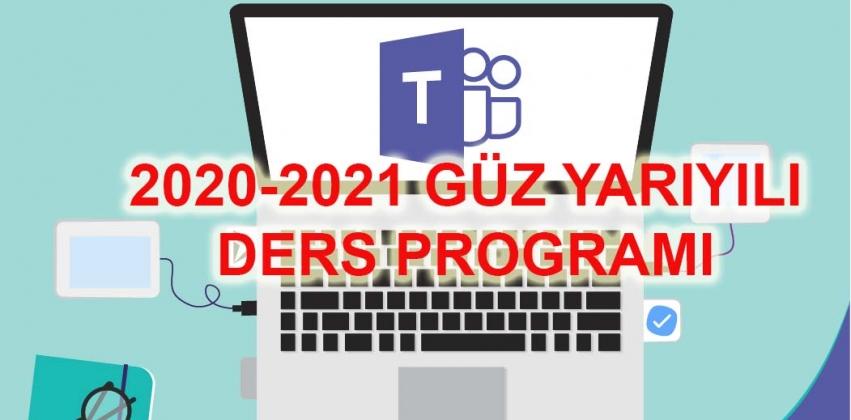 2020-2021 Öğretim Yılı Güz Ders Programı
