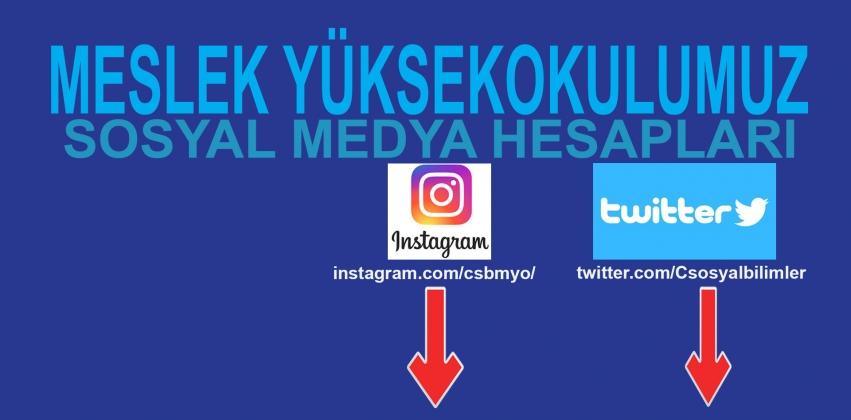 Meslek Yüksekokulumuz Sosyal Medya Hesapları
