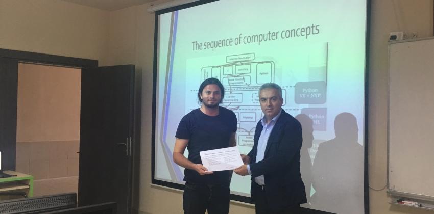 """Yüksekokulumuz """"Cisco Introduction to Network"""" Sertifika Töreni ve Öğrenci Flash Eğitsel Yazılım Sergisi"""
