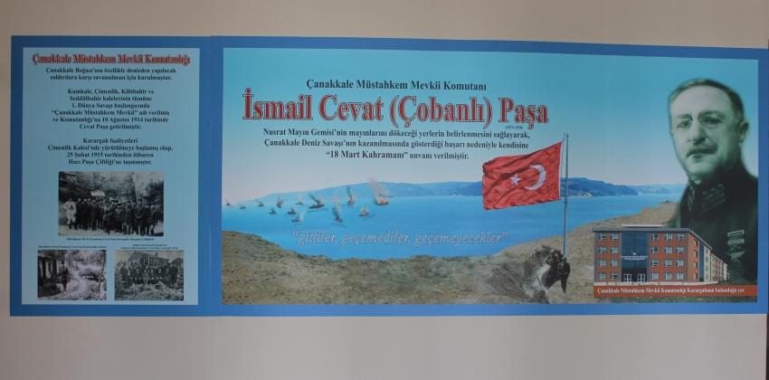 Çanakkale Müstahkem Mevkii Komutanı İsmail Cevat (Çobanlı) Paşa Köşesi