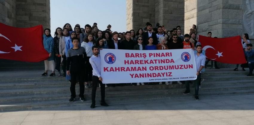ÇOMÜ Öğrencileri Ecdadı İle Buluşuyor Projesi Kapsamında Şehitlik Gezisi