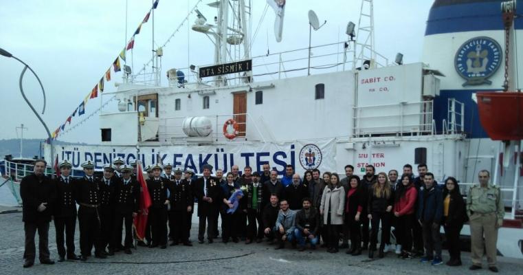 İstanbul Teknik Üniversitesi Sismik-1 Gemisi Ziyareti