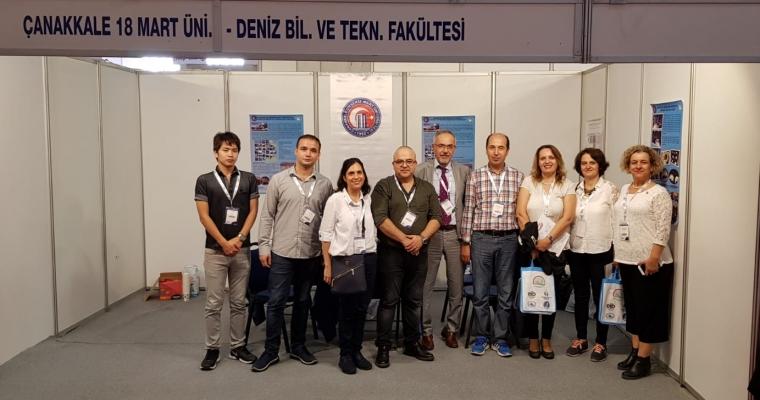 """Deniz Bilimleri ve Teknolojisi Fakültesi Uluslararası """"Future Fish Eurasia 2018"""" Fuarında"""