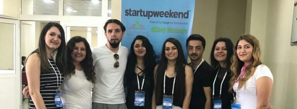 Öğrencilerimiz Girişimcilik Yarışması Startup Weekend' da Derece Aldılar