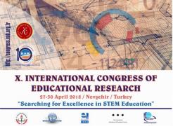 EAB 2018 - X. Uluslararası Eğitim Araştırmaları Kongresi