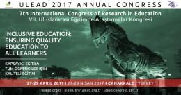 VII. Uluslararası Eğitimde Araştırmalar Kongresi: Kapsayıcı Eğitim: Tüm Öğrenciler İçin Kaliteli Eğitim