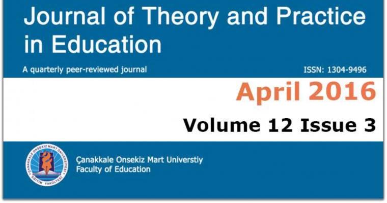 Eğitimde Kuram ve Uygulama (EKU) Dergisinin Nisan 2016 Sayısı Yayınlandı