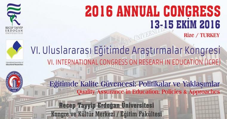 VI. Uluslararası Eğitimde Araştırmalar Kongresi Yapıldı
