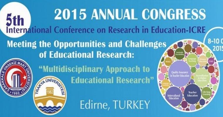 """""""5. Uluslararası Eğitimde Araştırmalar Kongresi"""" Başarı İle Tamamlandı"""