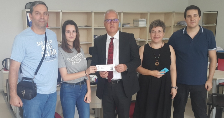 Yeni Akademik Yılda Fakültemizin İlk kaydını Dekanımız Prof.Dr. Salih Zeki GENÇ Yaptı.
