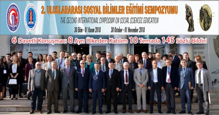 6 Davetli Konuşmacı, 8 Ayrı Ülkeden Katılım, 10 Temada 145 Sözlü Bildiri ile Uluslararası Sosyal Bilimler Eğitimi Sempozyumu