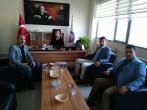 Burs ve Barınma Koordinatörleri Ezine Meslek Yüksekokulunu Ziyaret Etti