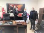 Ezine MYO'dan Genel Sekreterlik Görevine de Atanan Yüksekokul Müdürü ERENOĞLU'na Ziyaret