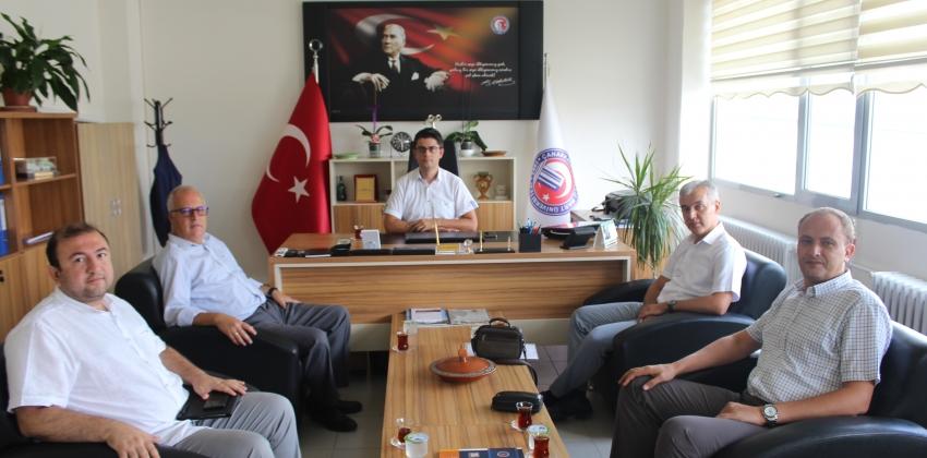 Eğitim Fakültesi Yönetiminden Müdür Erenoğlu'na Ziyaret