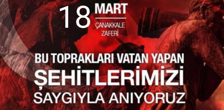 """Müdür Erenoğlu'nun """"18 Mart Çanakkale Zaferi' nin 105. Yılı"""" Mesajı"""