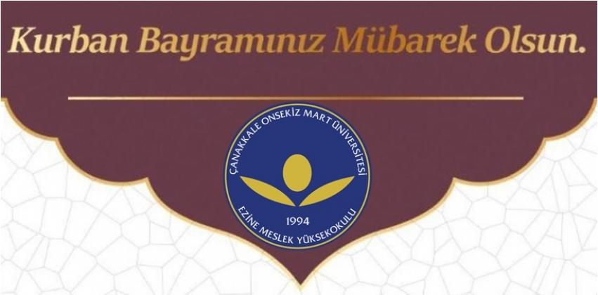 Ezine Meslek Yüksekokulu Müdürü Doç. Dr. R. Cüneyt Erenoğlu'nun Kurban Bayramı Mesajı