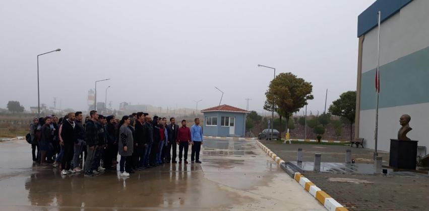 Yüksekokulumuz'da 10 Kasım Atatürk'ü Anma Töreni Gerçekleştirildi