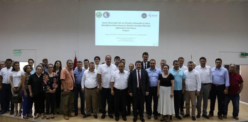 Ezine Yöresinde Süt ve Süt Ürünleri Alanında İş Gücü Niteliğinin Arttırılması Projesi Tanıtım Toplantısı Ezine MYO'da Yapıldı