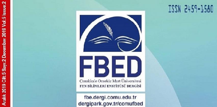 Çanakkale Onsekiz Mart Üniversitesi Fen Bilimleri Enstitü Dergisi