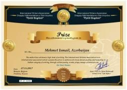Prof. Dr. Mehmet İsmail uluslararası  ödül aldı