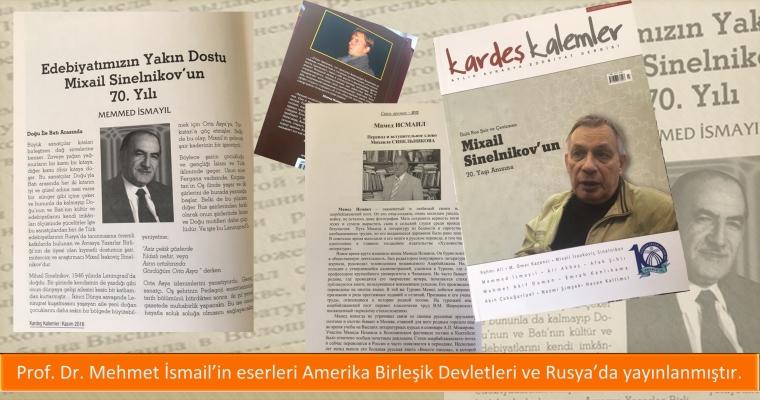 Prof. Dr. Mehmet İsmail'in eserleri Amerika Birleşik Devletleri ve Rusya'da yayınlanmıştır