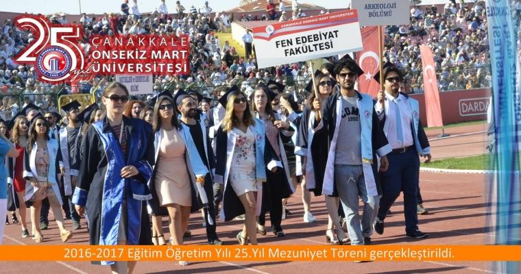 2016-2017 Eğitim Öğretim Yılı 25.Yıl Mezuniyet Töreni gerçekleştirildi.