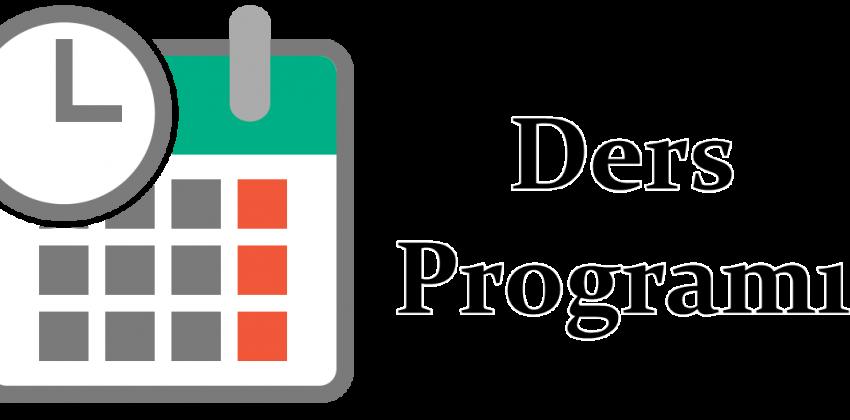 GÜNCELLENDİ 2019-2020 Güz Yarıyılı Ders Programı