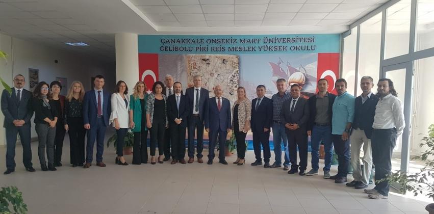Gelibolu Piri Reis Meslek Yüksekokulunda Akademik Kurul Toplantısı Rektör Prof. Dr. Sedat Murat'ın Katılımıyla Gerçekleştirildi