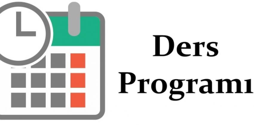 2020-2021 Eğitim-Öğretim Yılı Güz Yarıyılı Ders Programı