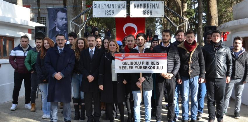 Namık Kemal'in, ölümünün 128'ncı yıldönümütörenle anıldı.