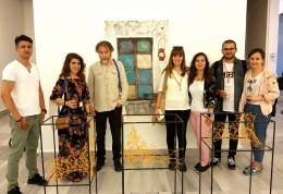 ÇOMÜ Güzel Sanatlar Fakültesi Resim Bölümü  Lisans ve Yüksek Lisans Öğrencileri  Marmara Üniversitesi Güzel Sanatlar Fakültesi 7. Uluslararası Öğrenci Trienali'nde