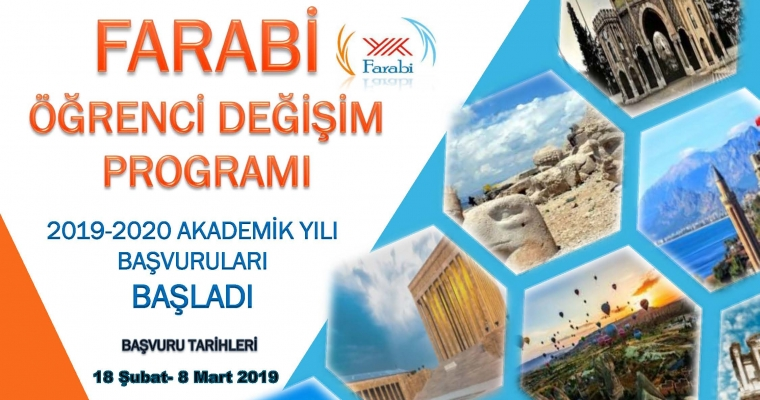 Farabi Öğrenci Değişim Programı 2019 - 2020 Akademik Yılı Başvuruları