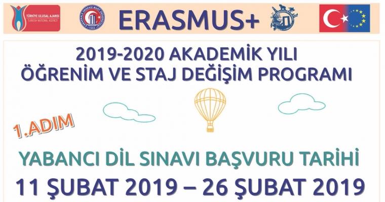 Erasmus 2019 - 2020 Akademik Yılı Başvuruları