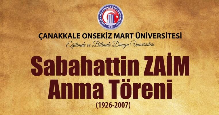 Sabahattin Zaim Anma Töreni