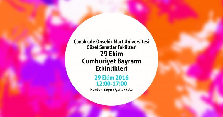 29 Ekim Cumhuriyet Bayramı Güzel Sanatlar Fakültesi Etkinlikleri