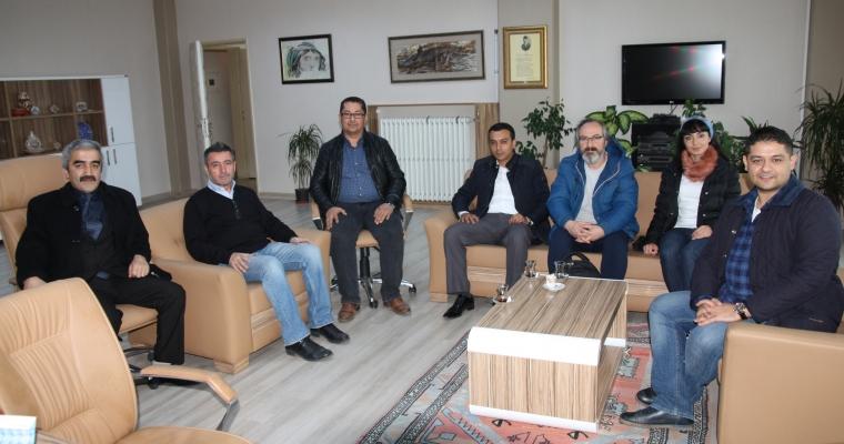 Çanakkale Kadastro Müdürü Sayın Namık Kemal ERZURUMLU'nun Prof. Dinçay KÖKSAL'ı Ziyareti