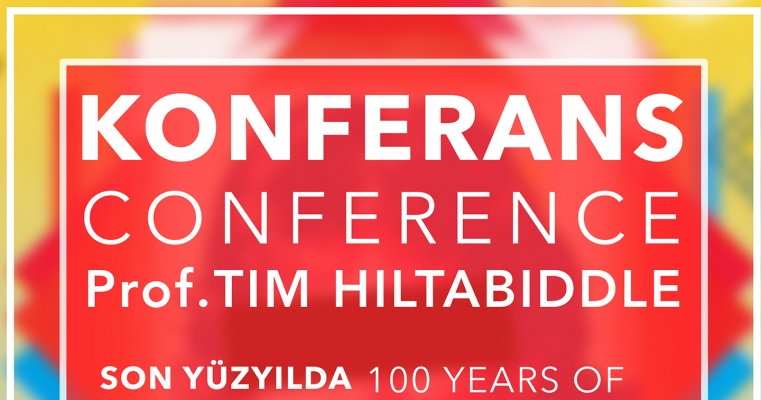 """Prof. Tim Hiltabiddle """"Son Yüzyılda Avrupada ve Dünyada Başyapıt Posterler"""" konulu Konferans"""