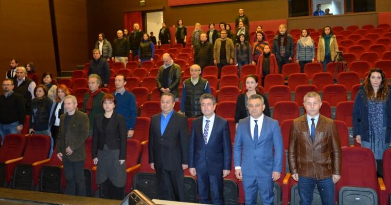 Çanakkale Onsekiz Mart Üniversitesi,Güzel Sanatlar Fakültesi Akademik Genel Kurul Toplantısı, Necip Fazıl Kısakürek salonunda gerçekleştirildi.