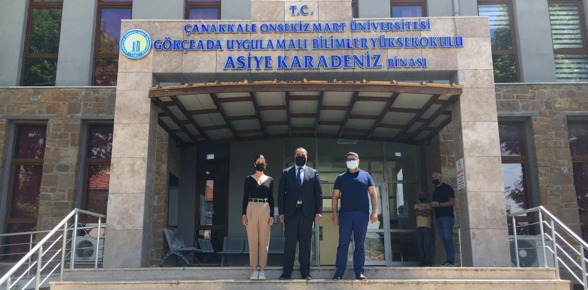 Gökçeada Kaymakamı Dr. Serhat DOĞAN Yüksekokulumuzu Ziyaret Etti