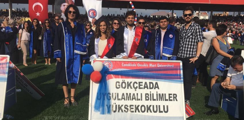 Çanakkale Onsekiz Mart Üniversitesi 2017-2018 Akademik Yılı Mezuniyet Töreni Çanakkale'de Gerçekleştirildi
